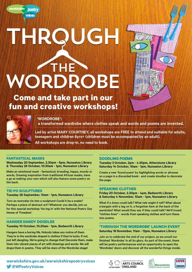 Warwickshire Poetry Voices Through the Wordrobe Workshop EVENTS