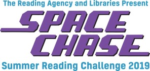 Space Chase stacked logo Presenting lines